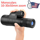 Zoom Monocular Full Multi coated SV45 10 30x50 BaK4 Prism Waterproof MonocularUS