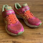 ASICS pink running sneakers  hook  loop fastener  girls size 3