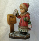 ANRI FIGURINE SARAH KAY ITALY Merry Christmas GIRL WITH LETTER TO SANTA 1G