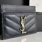 YSL Business Card Case With Gold Logo
