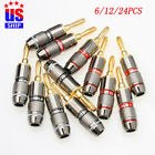 New 24K Gold plated Male Connector Fever Speaker Cable MONSTER Banana Plug USA