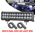 12INCH LED Light Bar Spot Flood Combo 6000K + 2x Mounting Bracket 06 1 125