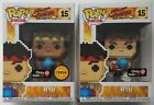 Funko POP EXCLUSIVE 8-Bit Ryu & CHASE 8-Bit Ryu #15 Street Fighter Figures