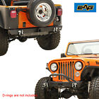 EAG Front+Rear Bumper Black Textured Heavy Duty Fit for 76 86 Jeep Wrangler CJ
