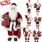 Santa Claus Standing Father Christmas Figure Doll Ornament Indoor Decoration LOT