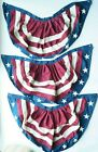3 Pack 15 x  USA American Flag Banner Fan Bunting