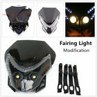 1*Refit Off-road Motorcycle LED Headlamp Shade Fairing Light Dual Street Fighter