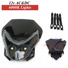 Motorcycle Headlight Front LED Cover  Fairing Light Dual Street Fighter Headlamp