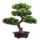Fake Artificial Green Plant Bonsai Potted Simulation Pine Tree Home Office Decor