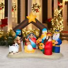 65ft Inflatable Nativity Scene Christmas Decoration Lighted Pre Lit Baby Jesus