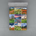 Colorful Collage Fitted Sheet Cover with All Round Elastic Pocket in 4 Sizes