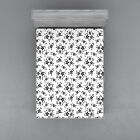 Summer Flowers Fitted Sheet Cover with All Round Elastic Pocket in 4 Sizes