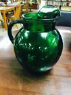 Vintage Mid Century Glass Anchor Hocking Forest Green ORB/Ball Ice Tea Pitcher