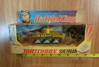 MATCHBOX Battle Kings K101 SHERMAN TANK green military USA American Flag Lesney