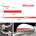 5X Car Body Side Stripe Vinyl Decals Auto adhesive Hood Rearview Mirror Stickers