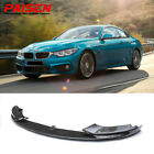 For 2014 2020 BMW F32 F33 F36 4 Series M Sport Front Bumper Lip Carbon Fiber