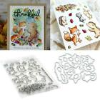 Animal Friends Cutting Dies Stencil DIY Scrapbooking and Clear Stamp Paper Card