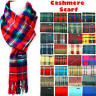 Winter Womens Mens 100 Cashmere Plaid Solid Scarves Wool Scarf Scotland Made
