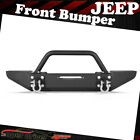 FOR 1987 2006 JEEP WRANGLER YJ TJ FRONT BUMPER ROCK CRAWLER WITH WINCH PLATE