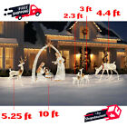 Outdoor Life Size Christmas Holiday Ornaments Illuminated LED Lights Yard Decor