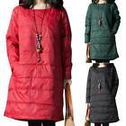Womens Qulified Puffer Down Coat Top Oversized Pullover Jacket Casual Midi Dress