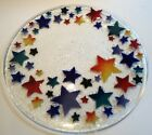 Peggy Karr SHOOTING STARS 14 Rainbow Round Plate Platter Signed