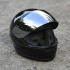 Motorcycle Mirror Shield Gloss Black Full Face DOT Adult Helmet Size M L XL HOT