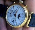 FORTIS Automatic Triple Date Chronograph Moon Phase 37mm Valjoux 7750 SERVICED