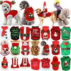 US Pet Cat Dog Christmas Outfit Costumes Sweater Hoodie Riding Xmas Clothes Coat