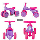 Pink Balance Bike For Toddlers Kids No Pedal 4 Wheel Bike For Girls In Outdoor