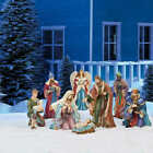 Christmas Decor Outdoor Yard Nativity 9 piece Decoration Set Free Shipping