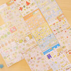 1 Sheet Cute Cartoon Paper Stickers Decorative Stationery Diary Label Sticker