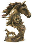 The spirit of the Native warriors and the Majestic Horse Bust Bronze Effect Art