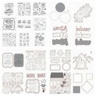 Christmas Clear Silicone Stamp With Metal Cutting Dies Stencil DIY Scrapbooking