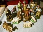 Vintage Nativity Scene Most Are Stamped Germany 14 Pieces 1 3 4 To 5 Tall