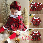 US Little Big Sister Toddler Kid Baby Girl Romper Outfit Christmas Dress Clothes