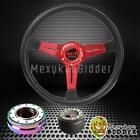 14 Black Red Steering Wheel Neo Chrome Quick Release Hub For Acura Tl 97-14