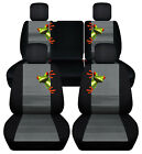Frontrear Car Seat Covers Blk-charcoal Wfrog... Fits Jeep Liberty Limited02-07