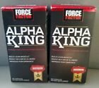 Force Factor Alpha King - build lean muscle/improve performance - 2 new bottles
