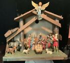 VINTAGE ITALIAN NATIVITY SET CHRISTMAS CRCHE MANGER 14 PIECES MARKED ITALY