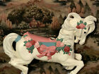 Cast Metal Carousel Horse White With Fancy Painting