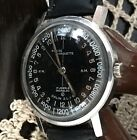 Vintage Men's Rare Stainless Steel 24 Hour Military Pierre Marquette Watch Works