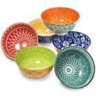 Annovero Dessert Bowls  Set Of 6 Small Porcelain Bowls For Snacks Rice Cond