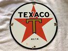Vintage Texaco Porcelain Gas and Oil Pump Plate