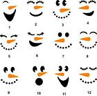 Snowman Face decal ornament tumbler cup window sticker you choose style size