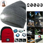 LED Hat Knitted Beanie with LED Front Light Outdoor Fishing Running Hat Cap