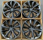 21 Tesla Model S Factory Wheels Rims Gloss Black OEM Turbine Set of 4 Square