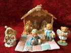 Cherished Teddies Nativity Mary Josh 3 Kings Angel Stable 6 Bears Plus Angela