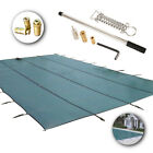 Inground Safety Pool Cover 1632 ft Rectangle Green Mesh Solid