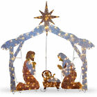 National Tree 72 Crystal Nativity Christmas Decoration Indoor and Outdoor Yard